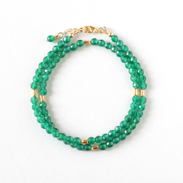 Green Agate Double Bracelet Ireland