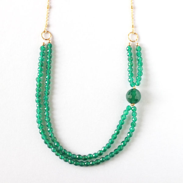 Green Agate Gold Necklace Ireland