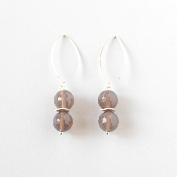 Grey Agate Earrings