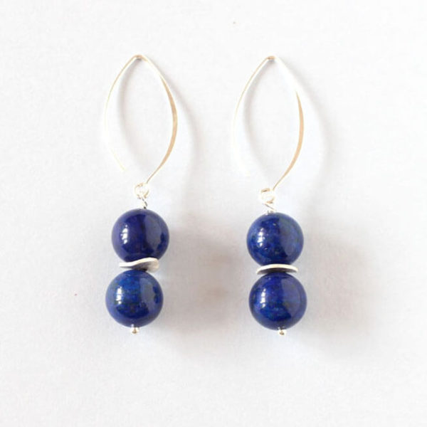Lapis Lazuli Silver Earrings ILgemstones