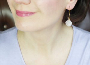 Pink Coin Earrings