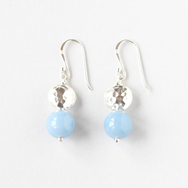 Angelite Silver Earrings