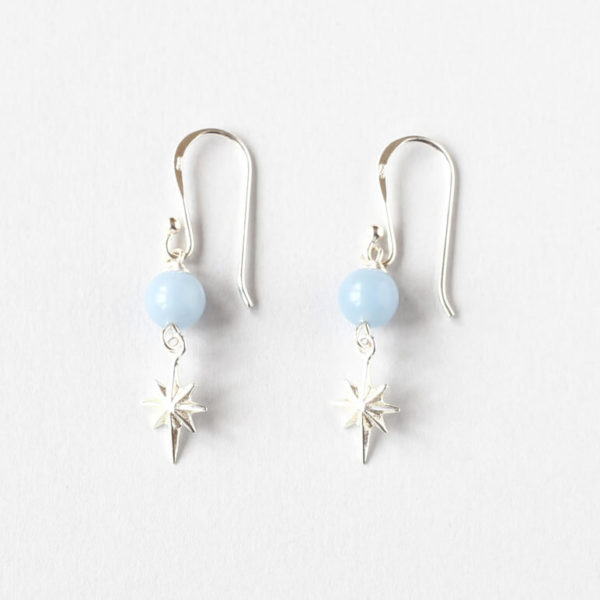 Angelite Star Earrings