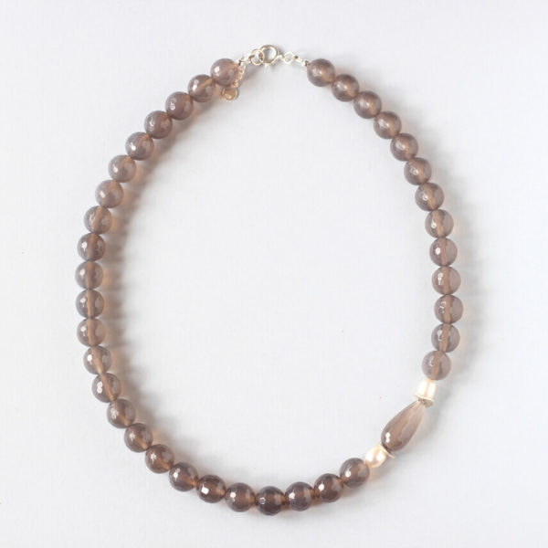Grey Agate Necklace