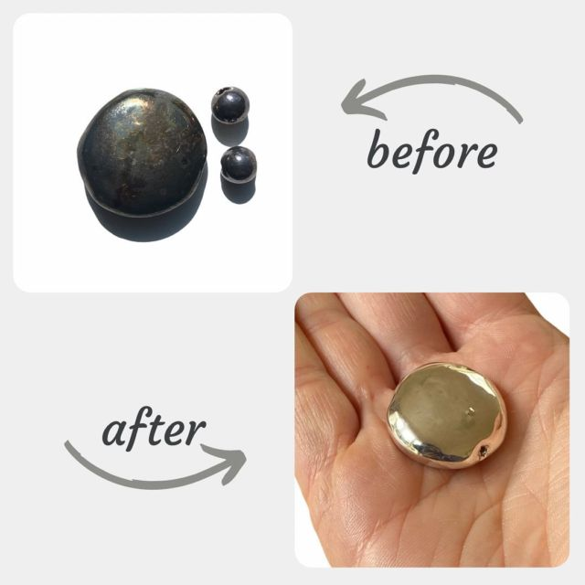 Learn how to clean your silver at home! It's easy, quick and cost effective. You will be pleasantly surprised 🤗. Read my blog post full of tips and tricks on how to prevent and clean tarnish. Link is in bio. You can't avoid this natural process but you can reduce and manage it. #silvercleaning #tarnishfree #jewellerycare