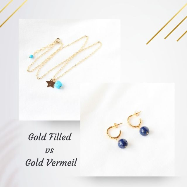 """A question that comes up frequently - what is the difference between gold filled and gold vermeil?  What is gold filled? The term """"gold filled"""" means that a thick layer of gold is bonded to a base of other alloys such as rhodium, brass or sterling silver through heat and high pressure. The quantity of gold must be at least 1/20th by weight of the total product which is 5% the gold content and 95% other metals.  What is vermeil? Vermeil is produced by coating sterling silver with carat gold. Gold is usually 18k or pure 24k gold. To be considered vermeil, the gold must be at least 10k and have a minimum gold thickness of 2.5 microns on all surfaces. A vermeil piece of jewellery is made entirely of precious metals which gives the piece a central value. I hope this will help you when buying a new piece of jewellery.  #goldfilled #goldvermeil #goldfilledjewellery #goldvermeiljewellery #irishjewellery #irishcraft #madelocal"""