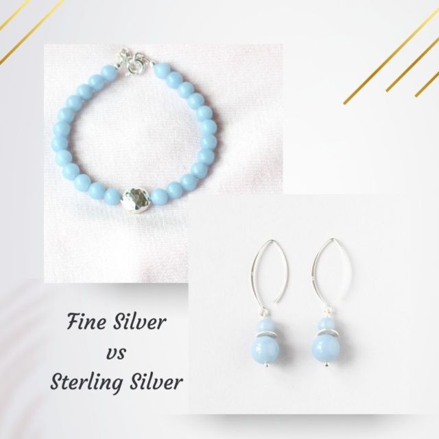 It is important to know what metals your jewellery is made of. So today I'll briefly explain the difference between fine silver and sterling silver.   Fine Silver is 97-99% pure silver. It is softer than sterling but very tarnish resistant.   Sterling Silver is 92.5% pure silver with some base metal, usually copper, added for strength. As the purity of the silver decreases, the issue of corrosion or tarnishing increases because other metals in the alloy may react over time with oxygen in the air.  Keep your silver in a jewellery box or a plastic bag to prevent tarnishing.   #finesilver #sterlingsilver #sterlingsilverjewellery #irishjewellery #irishcraft #ilgemstones #madelocal #handmadejewellery